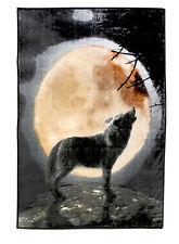 Tagesdecke Kuscheldecke Flauschdecke Wolf 155x205cm Bett Überwurf Wohn Decke