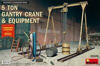 MINIART 35589- 1/35 - 5 TON GANTRY CRANE & EQUIPMENT Plastic model kit