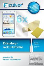 6x Huawei Ascend G630 G 630 Film de protection d'écran protecteur cristal clair