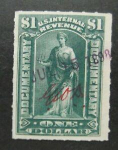 US-1898-$1 Internal Revenue Doc-Used
