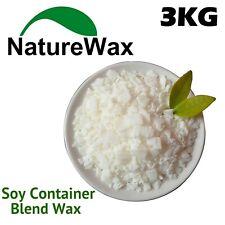 3KG 100% Puro Cera De Soja/vela de soja haciendo Cera Natural Copos Limpio Quemado