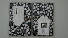Pottery Barn Teen Happy Hearts Euro Sham White Charcoal Gray S/2 NIP