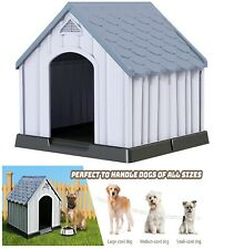Giantex Plastic Dog House for Small Medium Large Sized Dogs, Waterproof Ventilat