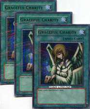 3 X YU-GI-OH GRACEFUL CHARITY HOBBY LEAGUE PROMO PARALLEL RARE N/MINT HL04-EN004