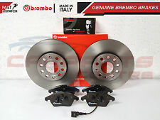 VW GOLF JETTA TOURAN EOS TDi FSi FRONT 288mm GENUINE BREMBO BRAKE DISCS PAD SET