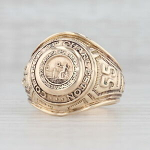 College of Charleston Class Ring 10k Yellow Gold Size 8.75 Vintage Seal