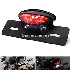 Custom Motorcycle Brake Rear Tail Light For Harley Chopper License Plate Bracket