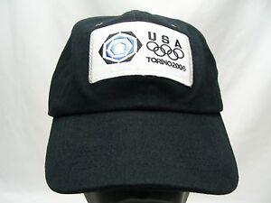 TEAM USA - TORINO - 2006 WINTER OLYMPICS - ADJUSTABLE BALL CAP HAT!