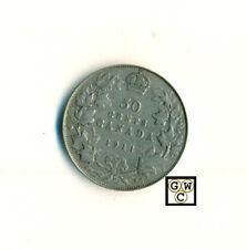 1911 Canada 50cents Coin ; Nice Fine