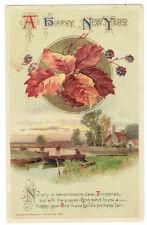 John Winsch artist signed Happy New Year card copyright 1913 date