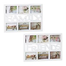 2 tlg. Bilderrahmen Set 6 Bilder DIY Fotocollage 10x15 Wechselrahmen Fotorahmen