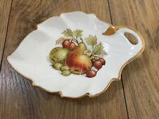 Crown Devon Leaf Trinket Dish Decoration gold rim Original 1950s Vintage Retro