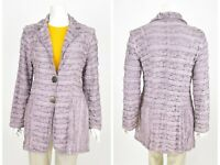 Womens Bottega by Elisa Cavaletti Blazer Jacket Purple Button Size M