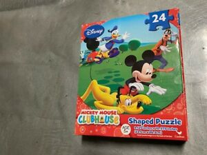 Disney Mickey Mouse Clubhouse Shaped Puzzle Toy - 24 Pieces Age 5+ Gift