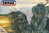 EMHAR 3503 WWI GERMAN INFANTRY 12 Unpainted Plastic Figures 1/35 MIB FREE SHIP
