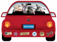 Greyhound VW Bug Magnetic Decal 4 Car or Home 100% Donation 2 cure K9 Cancer