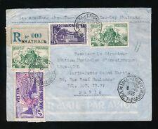 VIETNAM 1955 NHATRANG REGISTERED...BUU CHINH MULTI FRANKING.. 000 Etiquette