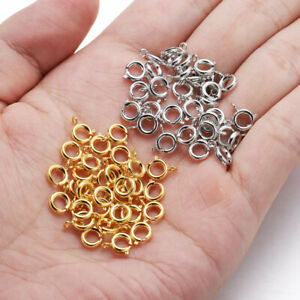 30pcs Spring Ring Clasp Open Jump Ring jewelry Clasp Bracelet Necklace Connector