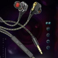 Sport In-ear Earphone 3.5mm Noise Isolation with Microphone and Subwoofer MZ