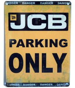 JCB Tin Signs Great little Gifts - small & large Diggers Tractors Farming