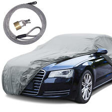 "Rain Tech Outdoor Car Cover Anti UV Rain Water Resistant (210"") W/ Secure Lock"