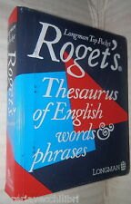 ROGET S THESAURUS OF ENGLISH WORDS PHRASES Pocket Thesaurus Longman Linguistica