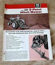 Vintage Oliver Corporation No. 356 Mower Advertising Brochure-Ca 1964!