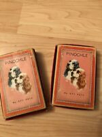 Vintage Park Avenue Playing Cards Pinochle No 271 Pets 2 Decks Collectible