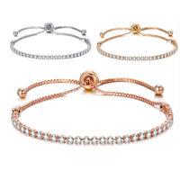 Adjustable Tennis Bracelets for women Cubic Zirconia chain Bangle Bracelet Femme