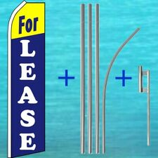 For Lease Super Flutter Flag + Pole Mount Kit Tall Feather Swooper Banner Sign