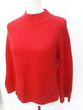 Primark Ladies Size S 6 8 Red Crew Neck  Jumper Autumn Chunky Knit Fashion Wear