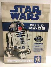 New Sealed STAR WARS BUILD R2-D2 Model Kit w/ LED Light + Audio Chip + Book GIFT
