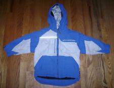Weatherproof Boys Hooded Winter Warm Ski Snow Jacket Size S 4 Blue Silver