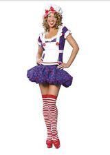 $69.51 New Roma Women Adult Sexy Halloween Raggedy Ann Ragdoll Costume S M