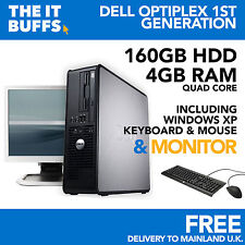 DELL OPTIPLEX QUAD CORE 4GB 160GB HDD WINDOWS XP - FISSO PC COMPUTER Set