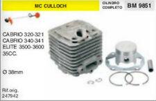 CILINDRO E PISTONE DECESPUGLIATORE McCULLOCH CABRIO 320 321 340 341 ELITE Ø38 mm