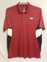 University Of Arkansas Razorbacks Red Polo Golf Shirt Large NCAA By KA Inc.