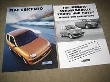 Fiat Seicento Hobby Prospekt Brochure prospetto von 1/1999