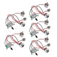 Electric Guitar Wiring Harness Prewired Kit 3 Way Toggle Switch 1V1T 500K 5 Pcs