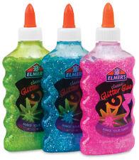 Classic Elmers Classic Glitter Glue Original Official Pack X 3 PINK GREEN PURPLE