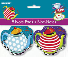 MAD HATTER TEA PARTY MINI NOTEPADS (8) ~ Birthday Supplies Favors Stationery