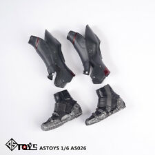 "AS026 1/6th Male Long Boots Shoes model with Feet fit For 12"" Male Body Toy"