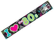 Totally 80s Foil Banner I Love The 80s1980s Disco Party Decorations Supplies 25'