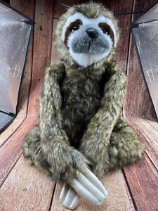"""Melissa And Doug 15"""" Plush Sloth Stuffed Animal With Attaching Hands"""