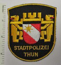 THUN SWITZERLAND STADT POLIZEI POLICE PATCH Vintage Original SWISS