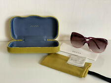 NEW! GUCCI 60MM BORDEAUX BROWN OVERSIZED SQUARE SUNGLASSES SHADES $350 SALE