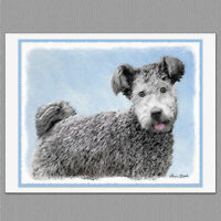 6 Pumi Dog Blank Art Note Greeting Cards