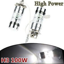 2x 6000k White LED H3 High Power 100W 2323 Car Fog Light Bulb DRL 1900LM