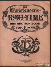 1909 Christensen's Rag-Time Instruction Book for Piano