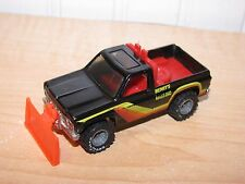 Hot Wheels Real Riders Super Scraper Henry's Hauling Plow Truck Black Grey Hubs